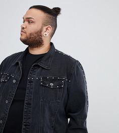 Джинсовая куртка с заклепками Liquor N Poker PLUS - Черный