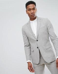 Узкий льняной пиджак Jack & Jones Premium - Серый