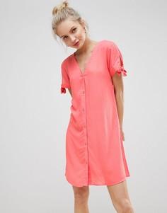 Чайное платье с V-образным вырезом JDY - Красный