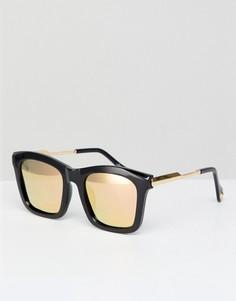 Черные солнцезащитные очки в квадратной оправе Jeepers Peepers - Черный