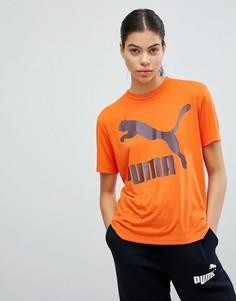 Оранжевая футболка Puma Classics - Оранжевый