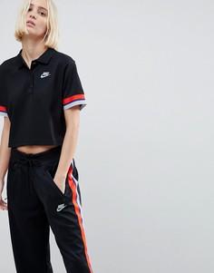 Черная футболка-поло Nike - Черный