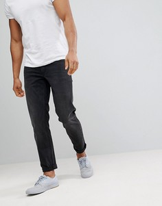 Черные зауженные джинсы с эффектом выцветания ASOS - Черный