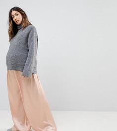 Атласные брюки свободного кроя с кисточками на завязках Glamorous - Розовый