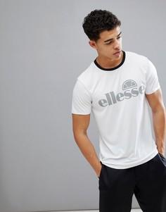Белая футболка со светоотражающим логотипом ellesse - Белый