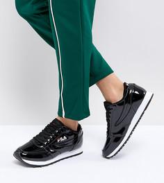Черные лакированные кроссовки Fila Orbit - Черный