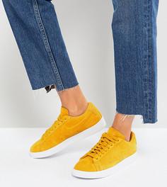 Низкие замшевые кроссовки горчичного цвета Nike Blazer - Желтый