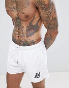 Белые шорты для плавания SikSilk - Белый
