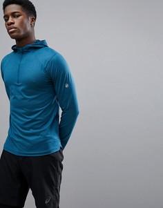Худи синего цвета Asics Running 154591-8297 - Синий