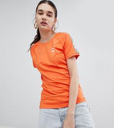 Оранжевая футболка с лентой на рукавах Puma эксклюзивно для ASOS - Оранжевый