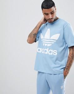 Свободная голубая футболка adidas Originals adicolor CW1214 - Синий