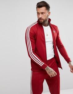 Бордовая спортивная куртка adidas Originals adicolor CW1251 - Красный