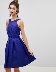Платье для выпускного с аппликацией Little Mistress - Синий