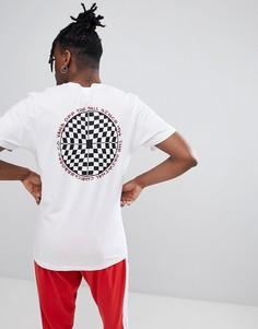 Белая футболка с шахматным принтом на спине Vans VA3H6JWHT - Белый