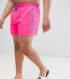 Розовые шорты для плавания с принтом Nike Plus NESS8820-678 - Розовый