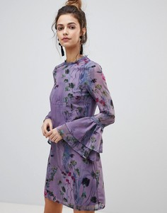 Свободное шифоновое платье Little Mistress - Мульти