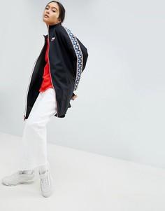 Черная спортивная куртка с отделкой лентой Nike - Черный