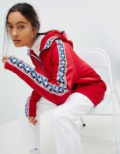 Красная спортивная куртка с молнией и отделкой лентой Nike - Красный