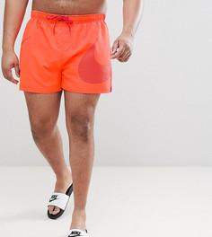 Красные шорты для плавания с логотипом-галочкой Nike Plus Volley NESS8457-618 - Оранжевый