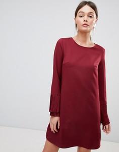 Свободное платье с рукавами клеш Parisian - Красный