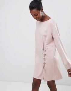 Платье с завязкой Vila - Розовый