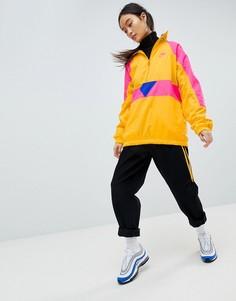 Желтая оversize-куртка колор блок с короткой молнией Nike Vapourwave - Желтый