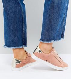 Кроссовки на шнуровке для широкой стопы ASOS DELINA - Оранжевый