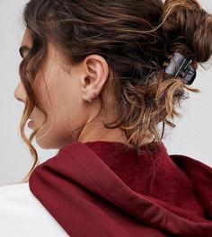 4 средних заколки для волос ASOS DESIGN - Черный