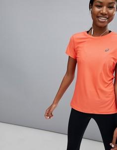 Коралловая футболка с короткими рукавами Asics - Розовый
