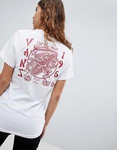 Белая футболка с красным принтом Vans - Белый