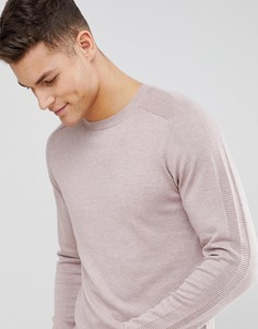 Вязаный джемпер с рукавами реглан Selected Homme - Розовый