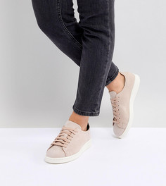 Розовые кроссовки из нубука adidas Originals Stan Smith Nuud - Розовый