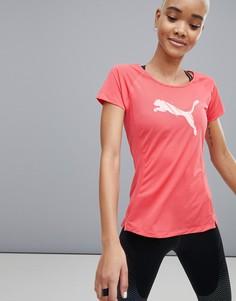 Красная футболка с короткими рукавами и логотипом Puma Running - Красный