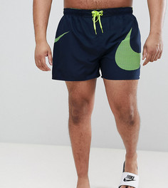 Темно-синие шорты для плавания с логотипом-галочкой Nike Plus Volley NESS8457-489 - Темно-синий