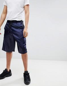 Темно-синие удлиненные шорты Mennace - Темно-синий