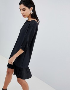 Платье с заниженной линией талии Sisley - Черный