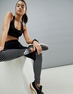 Черные спортивные леггинсы с логотипом adidas - Черный