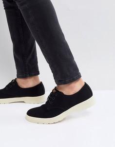 Черные туфли с 3 парами люверсов Dr.Martens Delray - Черный