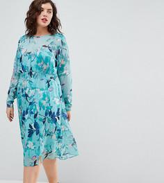 Платье миди с цветочным принтом Junarose - Мульти