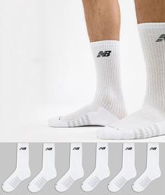 Набор из 6 пар белых носков New Balance N5050-801-6EU WHT - Белый