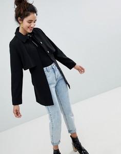 Пальто на пуговицах Monki - Черный