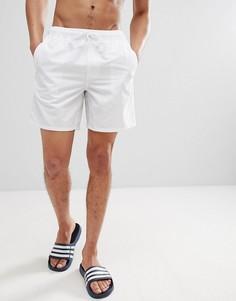 Белые шорты для плавания средней длины ASOS - Белый