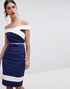 Темно-синее платье со вставками Paper Dolls - Темно-синий