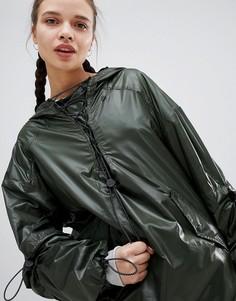 Куртка цвета хаки с молнией и шнуровкой Ivy Park - Зеленый