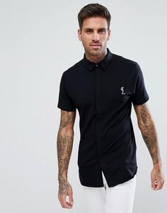 Черная трикотажная рубашка с короткими рукавами Religion - Черный