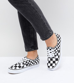 Кроссовки с шахматным узором Vans Authentic - Черный