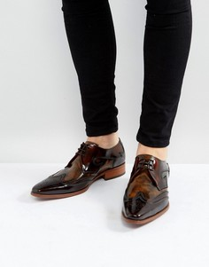 Коричневые броги со шнуровкой Jeffery West Yardbird - Коричневый