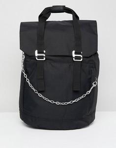 Рюкзак с цепочкой и отделением для ноутбука ASOS - Черный