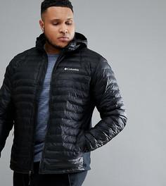 Черная легкая дутая куртка с капюшоном Columbia PLUS - Черный