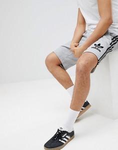 Шорты с 3 полосками adidas Originals - Серый